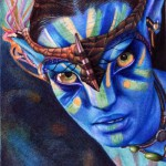 Avatar. Photo realistic drawing by Portuguese artist Samuel Silva