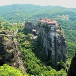 Green valley in Holy Meteora