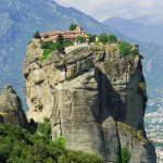 Standing on a high mountain monasteries