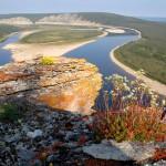 Aeral photo – Siberian river Olenyok