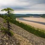 Beautiful Siberian river Olenyok