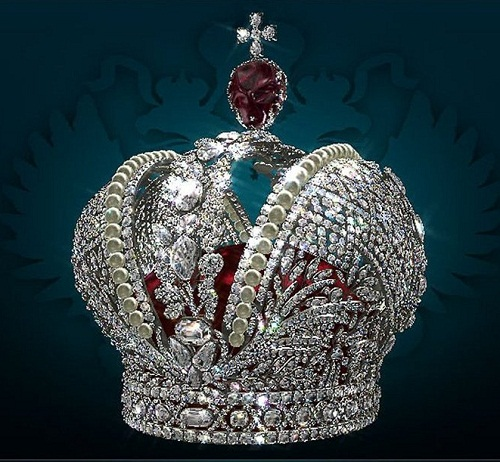 The Kremlin Armoury treasures. Crown of the Russian Empire