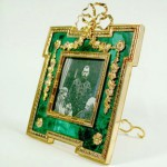 Portrait of Nicholas II in malachite frame