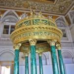 Malachite columns in The Winter Palace, Hermitage, Russia