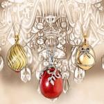 A set of pendants – Faberge eggs