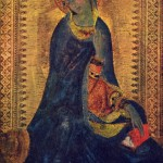 "Madonna of the scenes of ""The Annunciation"" by Simone Martini"