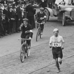 Dorando Pietri finishes the marathon