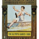 A poster of 1908 The Great Stadium Shepherd's Bush London Summer Olympics