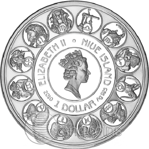 Inspired by Alphonse Mucha commemorative coins, issued on an island of Niue