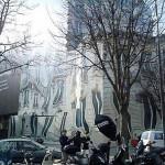Trompe-l'oeil melting house at George V Avenue in Paris