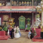 Furniture from Russian malachite at the World Exhibition in 1851.