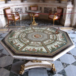 Mosaic table in The Pavilion Hall