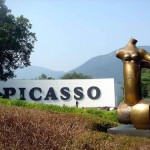 The corner devoted to the famous Spanish artist Picasso. Hakone Art Museum