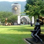 In fact, this is an art gallery in the open air, with lots of sculptural compositions. Hakone Art Museum