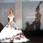 Ball dresses based on fabulous French fairy tale, Donkeyskin, by French fashion designer Franck Sorbier