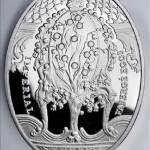 "Imperial Faberge eggs. ""Coronation Egg"". Niue, 2010, $ 2, 925 Silver, 56.56g, circulation 5000 copies., Diameter 41.6 * 55.6 mm capsule, the certificate 5300 rubles"