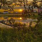Gorgeous sunset. Russian nature by Aleksandr Danilin