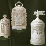 Traditional Bone carving. Kholmogory, Russia