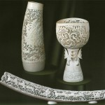 Cups. Bone carving from Kholmogory, Russia