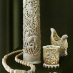 Vases and jewelry pieces