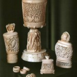 A set of vases and boxes