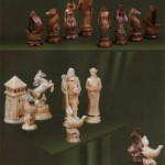 Figurines carved by craftsmen from Kholmogory