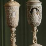 Cups. Bone carving. Kholmogory