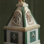 Handmade box. Bone carving