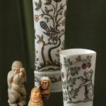 Miniature sculptures and vases