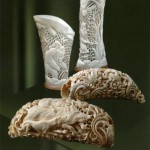 Skillful Bone carving from Kholmogory, Russia
