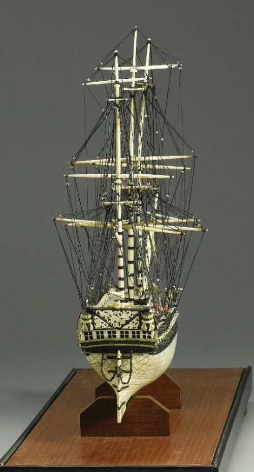 Ship Models Made of Human Bones