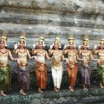 A group of beautiful Cambodian dancers