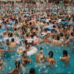 "The ""Dead Sea of China"". Chinese Swimming Pool"