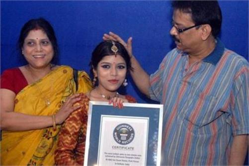 Chirasree Dasgupta in Guinness Records