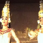 A couple of dancers. Ancient Khmer capital of Angkor, Photo taken August 2012