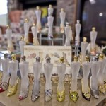 Perfume bottles in shoes. Stunning collection of 57-year old American Darlene Flynn from California