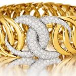 Diamond and Gold 'Double-Crescent' Bracelet