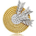 Diamond and Gold 'Target' Brooch
