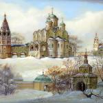 Winter landscape lacquer box
