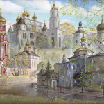 Christian Russia – painting on lacquer box