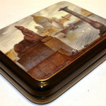 Petersburg view painting on lacquer box