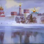 Exquisite work of Fedoskino artists