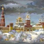 Beautiful work of Fedoskino artists