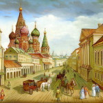 Ancient Moscow – painting on lacquer boxes. The work of Fedoskino artists