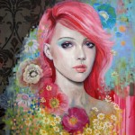 Pink-haired girl. Female beauty in drawings by Australian artist Emma Uber