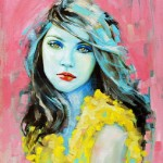 Yellow blouse. Female beauty in drawings by Australian artist Emma Uber