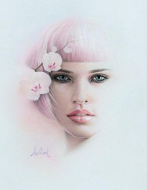 Feminine beauty in drawings by Australian artist Bec Winnelwith