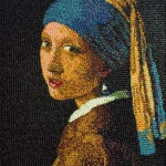 Girl with a Pearl Earring by Jan Vermeer of pills. Work by Chinese artist Ju Duoqi