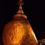The rock itself represents of the Buddhist monk resembling its head. Golden Rock, one of the most sacred sites in Burma