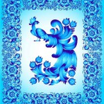 Sky blue Gzhel picture